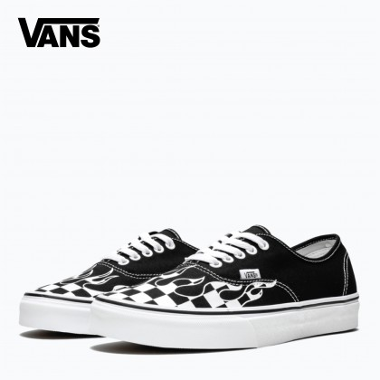 Vans. Authentic Toddler 'Checker Flame (Black/White)