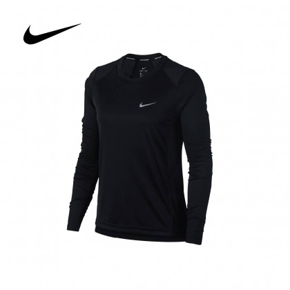 Nike Women's Miler Long Sleeve (Black)