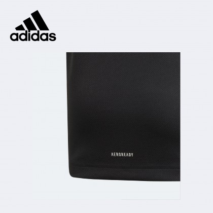 Adidas Aeroready Heather Tee (Black / Grey Four / White)