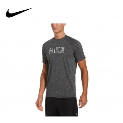 Nike Heather Logo Short Sleeve Hydrogurd (Dark Heather)