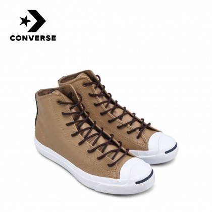 Converse Jack Purcell Leather Mid (Sand) Season 5 - CLOSEOUT