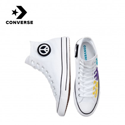 Converse Chuck Taylor All Star Empowered Peace Powered High (Top White/Court Purple/Amarillo)