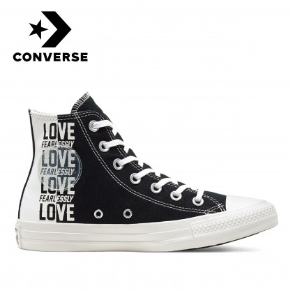 Converse Love Fearlessly Chuck Taylor All Star High (Black/Egret/University Red)